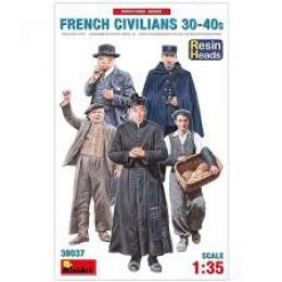 MINIART 1/35 French Civilians 1930-40s (w/ resin heads)