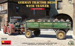 MINIART 1/35 German Tractor D8506 with Trailer (2x camo)