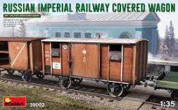 MINIART 1/35 Russian Imperial Railway Covered Wagon