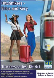 MASTERBOX 1/24 Hitchhikers,Erica& Kery. Truckers series