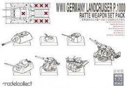 MODELCOLLECT 1/72 P.1000 Ratte Weapon Set Pack