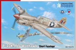 SPECIAL HOBBY 1/72 P-40K-1/5 Warhawk Short Fuselage for 4x camo