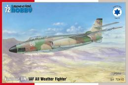 SPECIAL HOBBY 1/72 Vautour IIN IAF All Weather Fighter