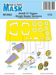 SPECIAL HOBBY 1/72 Mask for SAAB 37 Viggen Single Seater