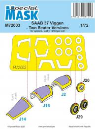 SPECIAL HOBBY 1/72 Mask for SAAB 37 Viggen Two Seater