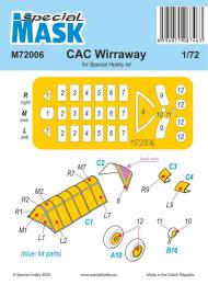SPECIAL HOBBY 1/72 Mask for CAC Wirraway for SH