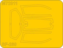 1/72 Mask for SF-260M/AM/W early canopyfor SH