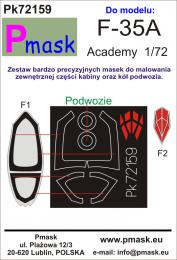 PMASK 1/72 Pk72159 Canopy Mask F-35A for ACA Oracal
