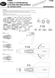 NEW WARE 1/72 Mask Lightning F.2A/F.6 ADVANCED for AIR