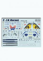 PRINT SCALE 1/144 F-18 Hornet Decals