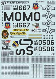 PRINT SCALE 1/32 F-15E Eagle Decals