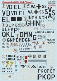 PRINT DECALS 1/32 Messerschmitt Me 163B Komet (wet decals)
