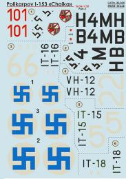 PRINT DECALS 1/32 Polikarpov I-153 Chaika (wet decals)