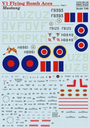 PRINT 1/48 P-51 Mustang V1 Flying Bomb Aces