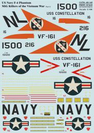 PRINT SCALE 1/48 US NAVY F-4 Phantom Vietnam II. Decals