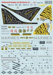 PRINT SCALE 1/48 McDon.Douglas AV-8B Harrier II Decals