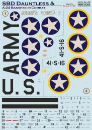 PRINT SCALE Decals 1/48 SBD Dauntless & A-24 Banshee in combat - Pt.3