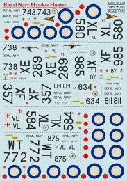 PRINT SCALE 1/72 Hawker Hunter Royal Navy Decals