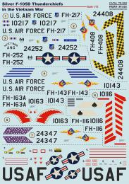 PRINT SCALE 1/72 Silver F-105D Thunderchiefs Decals