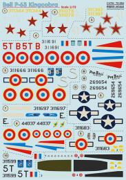 PRINT SCALE 1/72 Bell P-63 Kingcobra Decals