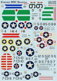 PRINT SCALE 1/72 Curtiss SOC Seagull Pt.1 Decals