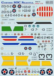 PRINT SCALE 1/72 Curtiss SOC Seagull Pt.2 Decals