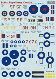 PRINT SCALE 1/72 British Royal Navy Corsair Decals