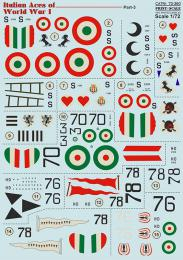 PRINT SCALE 1/72 Italian Aces of WWII Pt.3 Decals