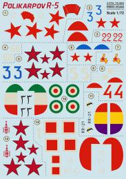 PRINT DECALS 1/72 Polikarpov R-5 (wet decals)