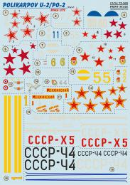 PRINT DECALS 1/72 Polikarpov U-2/Po-2 (wet decals) Pt.1