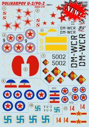 PRINT DECALS 1/72 Polikarpov U-2/Po-2 (wet decals) Pt.2