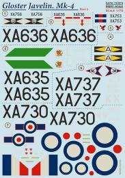 PRINT DECALS 1/72 Gloster Javelin Mk.4 (wet decals) Pt.3