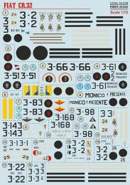 PRINT DECALS 1/72 Fiat CR.32 Spanish Civil War (wet decals)