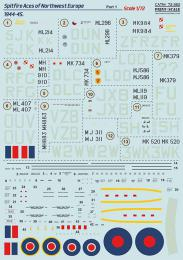 PRINT SCALE 1/72 Spitfire Mk.IX Aces of Europe 1944-45, part 1