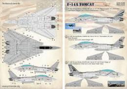 PRINT SCALE 1/72 F-14A Tomcat  Part 3 (wet decals)