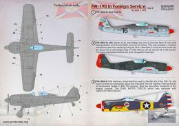 PRINT SCALE 1/72 FW-190 in Foreign Service Part 1 (wet decals)