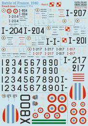 PRINT SCALE Decals 1/72 Caudron 714 - French Aces 1940