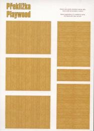 PEEWIT 1/72 Decal Plywood - birch (dark)