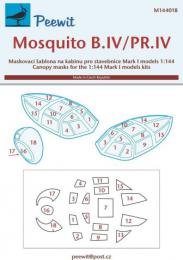 PEEWIT 1/144 Canopy mask Mosquito B.IV/PR.IV for MARK1 MOD.