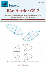 PEEWIT 1/144 Canopy mask BAe Harrier GR.7 (REV)