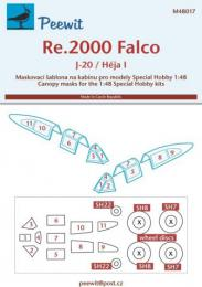 PEEWIT 1/48 Canopy mask Re.2000 Falco for SH