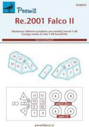 PEEWIT 1/48 Canopy mask Re.2001 Falco II for SWO