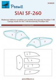 PEEWIT 1/48 Canopy mask SIAI SF-260 for KP