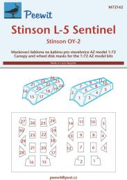 PEEWIT 1/72 Canopy mask Stinson L-5/OY-2 Sentinel For AZMO