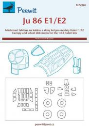 PEEWIT 1/72 Canopy & wheel masks Ju-86E1/E2 for ITAL