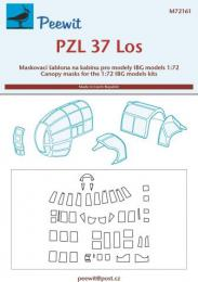 PEEWIT 1/72 Canopy mask PZL-37 Los for IBG