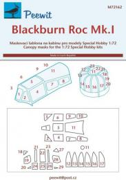 PEEWIT 1/72 Canopy mask Blackburn Roc Mk.I for SH