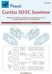 PEEWIT 1/72 Canopy mask Curtiss SO3C Seamew for SWORD