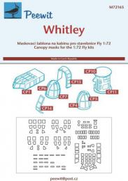 PEEWIT 1/72 Canopy mask Whitley for FLY