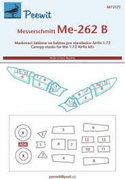 PEEWIT 1/72 Canopy mask Messerschmitt Me-262B for AIRFIX